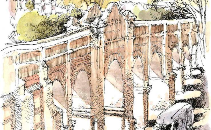 Málaga a trazos: Arroyo Quintana y Acueducto de San Telmo