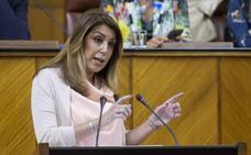 Susana Díaz: «Vamos a intentar que las urnas nos encuentren trabajando»