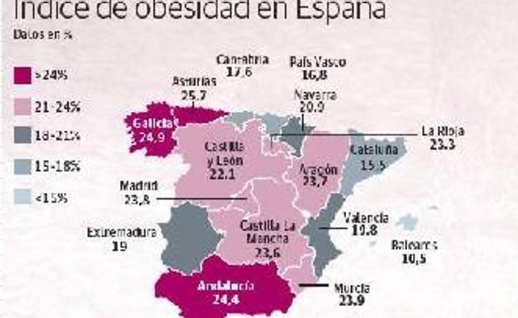 Índice de obesidad en España