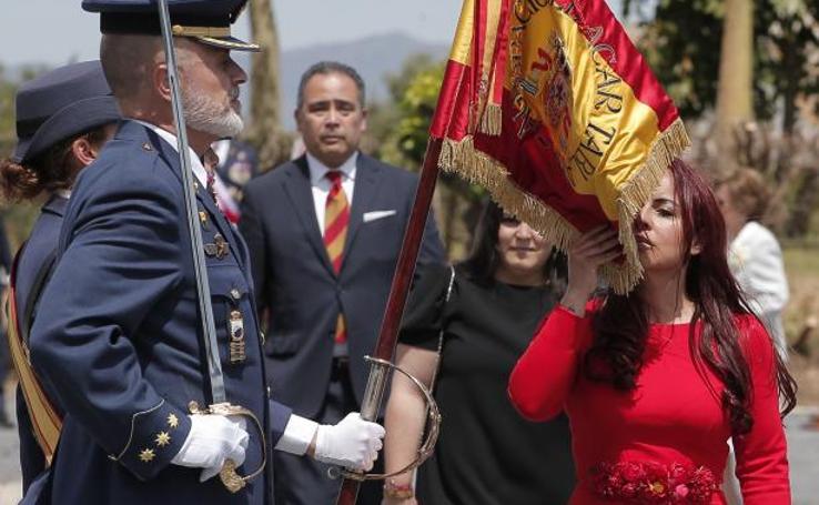 Jura de bandera en la base aérea de la capital malagueña