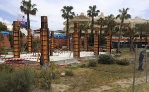 Polémica por la construcción de un chiringuito en la playa de Malapesquera, en Benalmádena