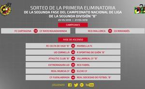 Cartagena-Rayo Majadahonda y Mallorca-Mirandés por el ascenso a Segunda