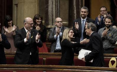 Torra logra la investidura por un voto para reiniciar el 'procés' bajo la tutela de Puigdemont y la CUP
