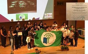 El colegio Nuestra Señora de Lourdes, de Moclinejo, consigue una bandera verde por su proyecto de educación ambiental