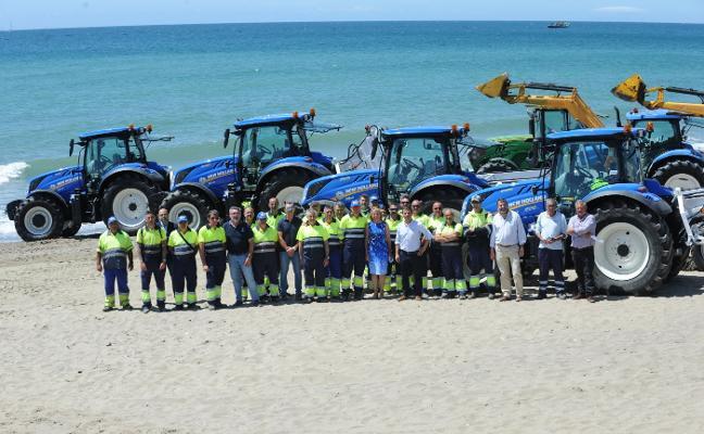Limpieza duplica la maquinaria de playa de cara al verano