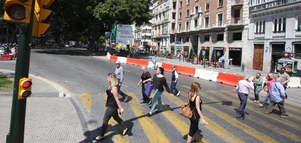Comienzan los cortes de tráfico por las obras de la Alameda en Málaga