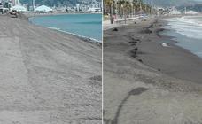 Huelin: el levante se deja sentir en la playa
