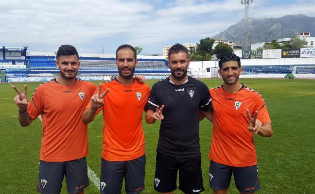 Los cuatro del ascenso del Marbella