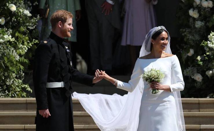 Fotos de la boda del príncipe Harry y la actriz Megan Markel