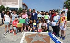 Damián Quintero ya tiene su estrella en Málaga