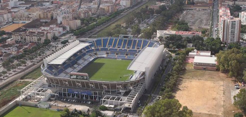 La ciudad también baja con el Málaga