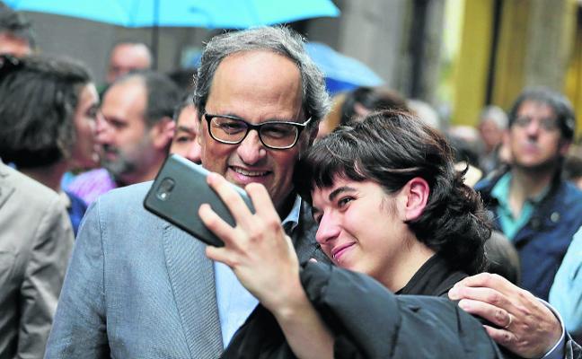 Torra lanza un órdago a Rajoy con su Govern