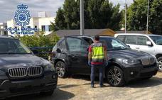 Recuperados en un centro comercial de Estepona cuatro coches robados para transportar droga