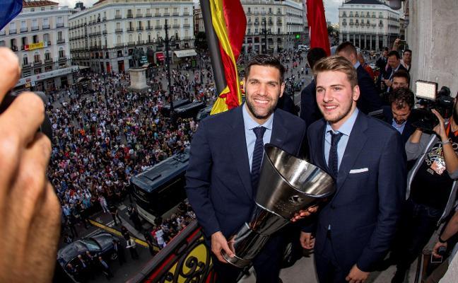 El Real Madrid celebró su título de la Euroliga