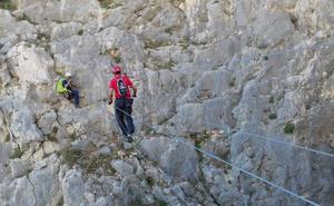 Abren una vía ferrata de vértigo de 650 metros en el Caminito del Rey