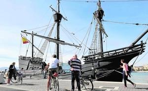 La Nao Victoria atraca en Málaga y abre sus cubiertas al público