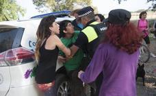Tensión en el desalojo de los ecologistas en Arraijanal
