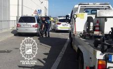 Detienen en Málaga a un 'taxista pirata' reincidente que había cambiado la matrícula del vehículo para eludir a la policía