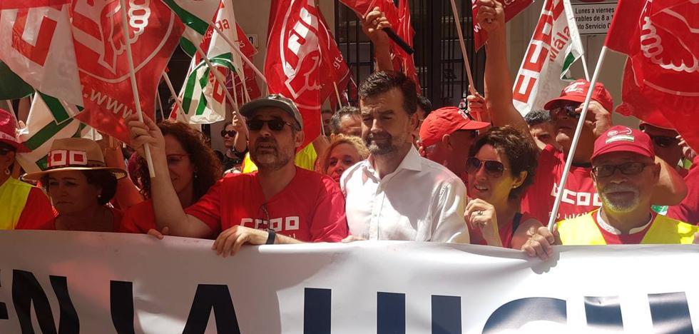 Antonio Maíllo dice en Málaga que apoya la moción de censura