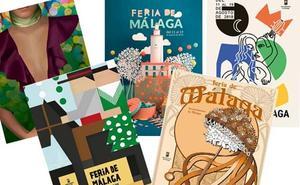 Cinco carteles optan a ser la imagen de la Feria de Málaga y tú puedes decidir cuál