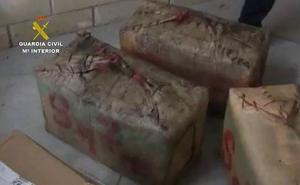 Ocho detenidos y 1.200 kilos de hachís incautados en una operacion antidroga con ramificaciones en Antequera