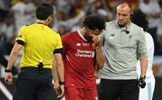 Salah se retira del Olímpico lesionado y entre lágrimas