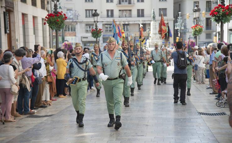 El desfile de La Legión de este domingo en Málaga, en fotos