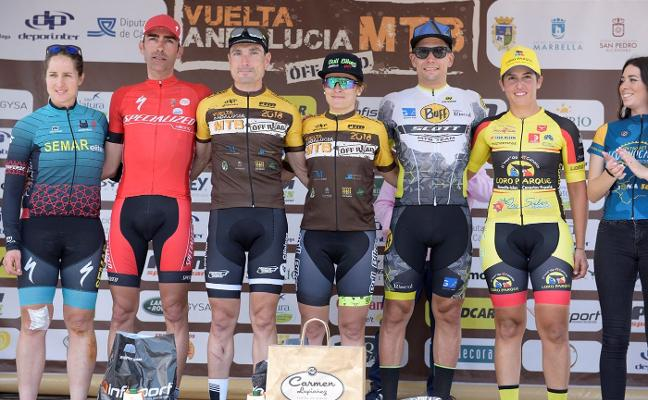 José Luis Carrasco y María Díaz, ganadores de la Vuelta Andalucía MTB