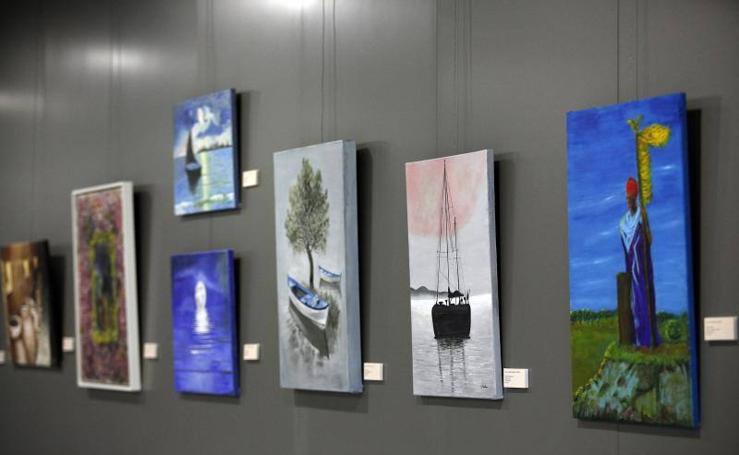 Fotos de las obras del VI Certamen de Pintoras IAM_Arte