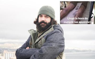 Un tatuaje con la cara de Regino Hernández