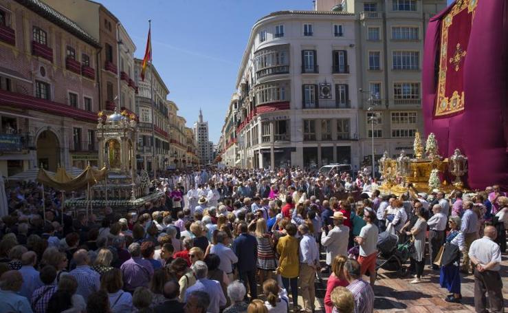 Fotos de la procesión del Corpus en Málaga capital