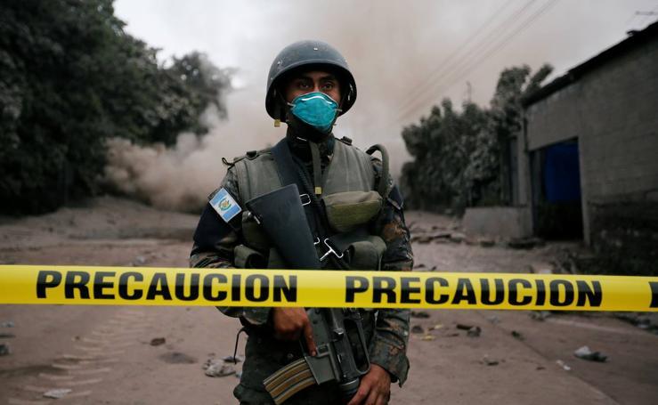 Terror en Guatemala con la erupción del volcán Fuego