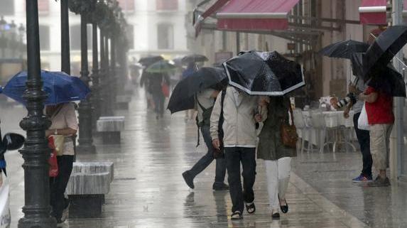 Lluvia en Málaga