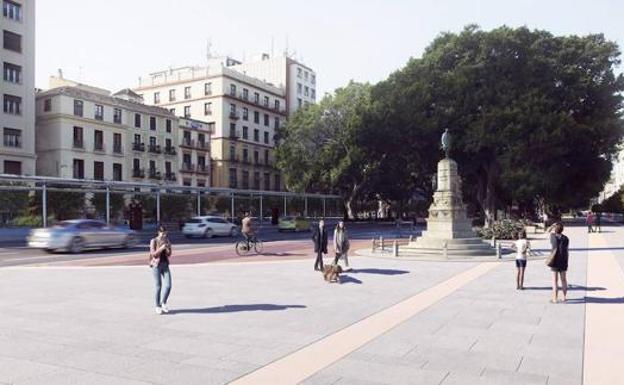 Peatonalización de la Alameda