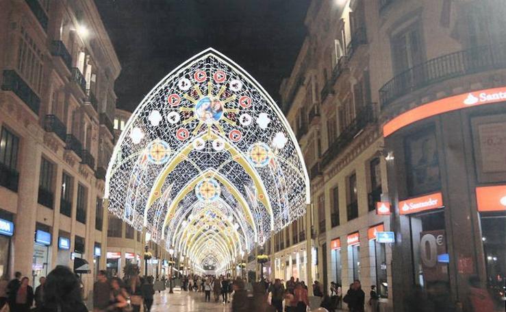 Alumbrado de Navidad en Málaga