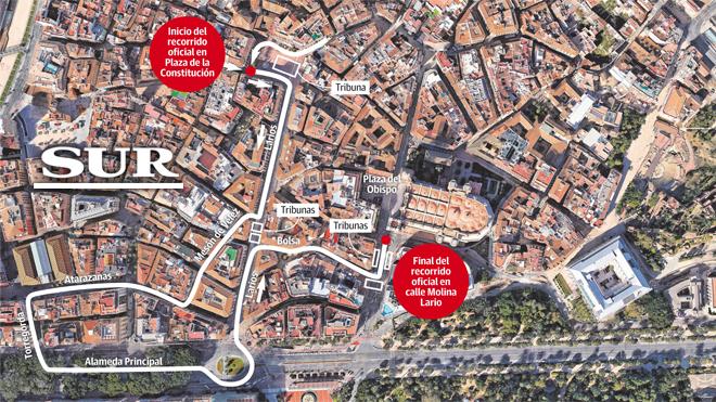 Nuevo recorrido oficial de la Semana Santa de Málaga