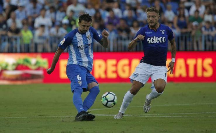 El Málaga cae ante el Lazio en La Rosaleda