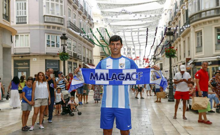 Presentación del malaguista Diego González