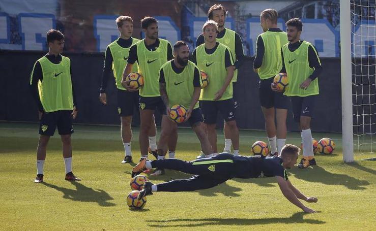 El Málaga prepara el importante duelo ante el Celta
