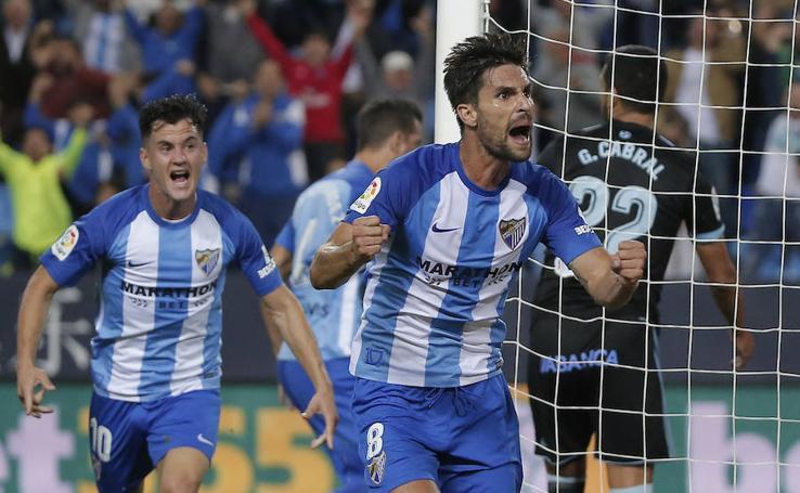 El Málaga-Celta, en imágenes