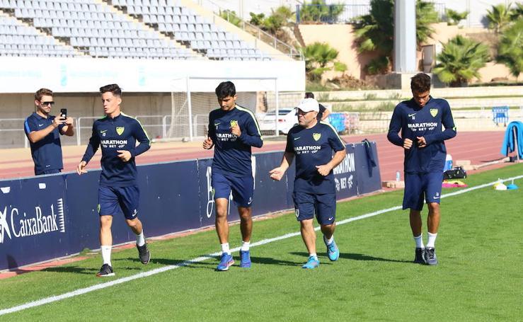 El Málaga vuelve a entrenarse tras su victoria ante el Celta