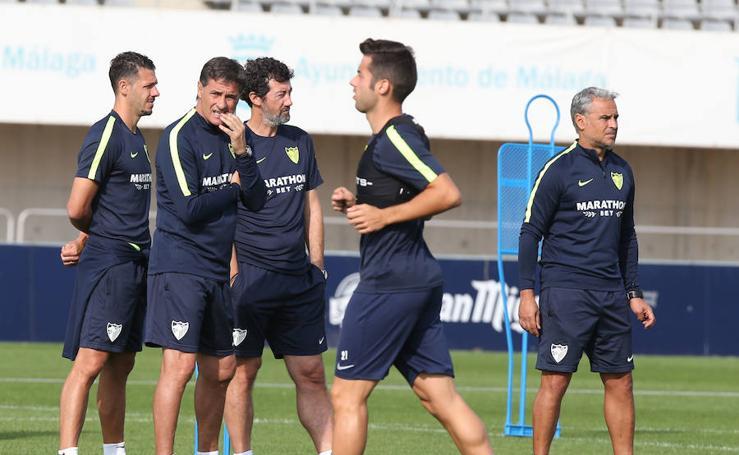 El entrenamiento del Málaga, en imágenes