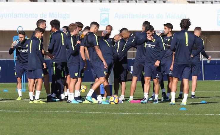 Así ha sido el entrenamiento del Málaga de este miércoles
