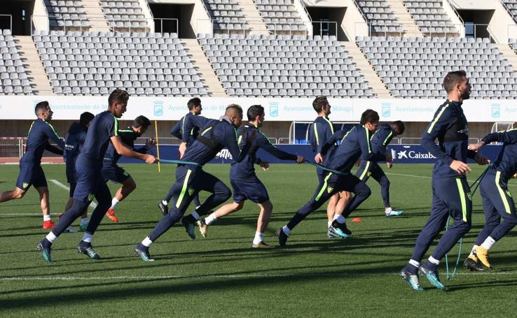 Primer entrenamiento del año del Málaga CF