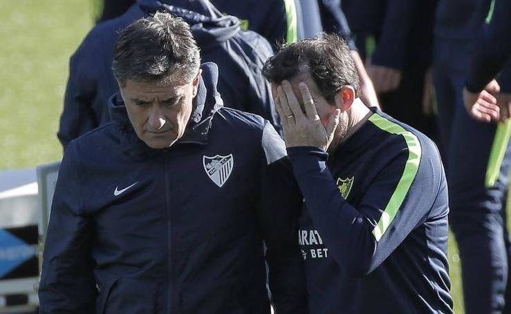 El Málaga prepara su importante choque ante el Getafe