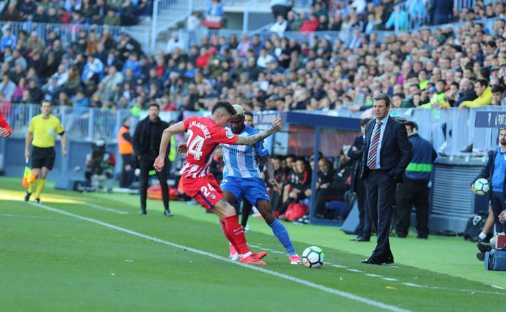 El Málaga- Atlético de Madrid, en fotos