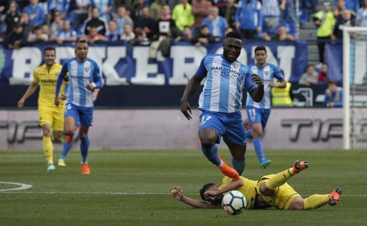 El Málaga-Villarreal, en fotos