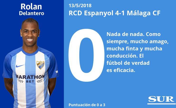 El uno a uno del Espanyol 4-1 Málaga