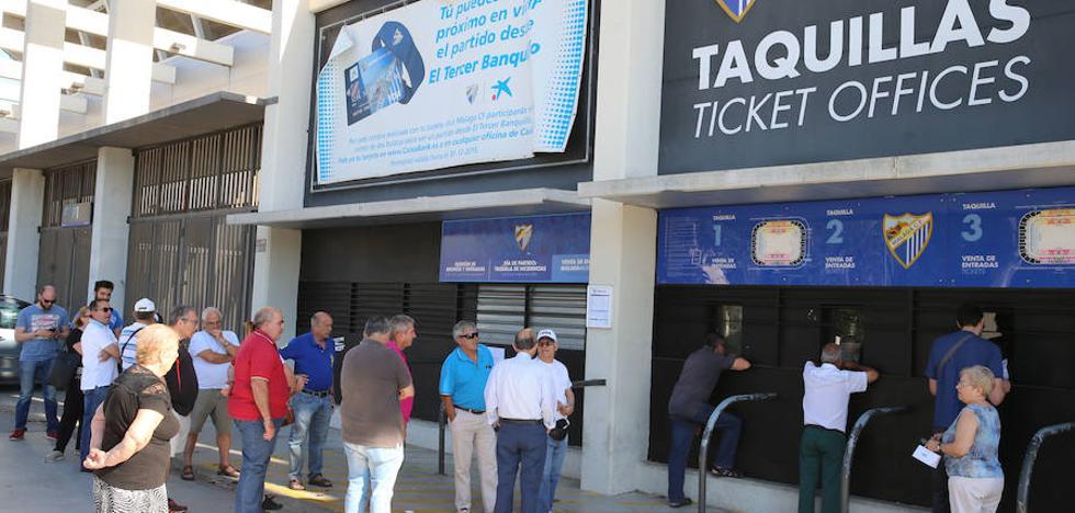 El Málaga vende unos mil abonos en el primer día de la campaña