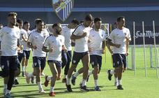El primer entrenamiento de pretemporada del Málaga a las órdenes de Muñiz